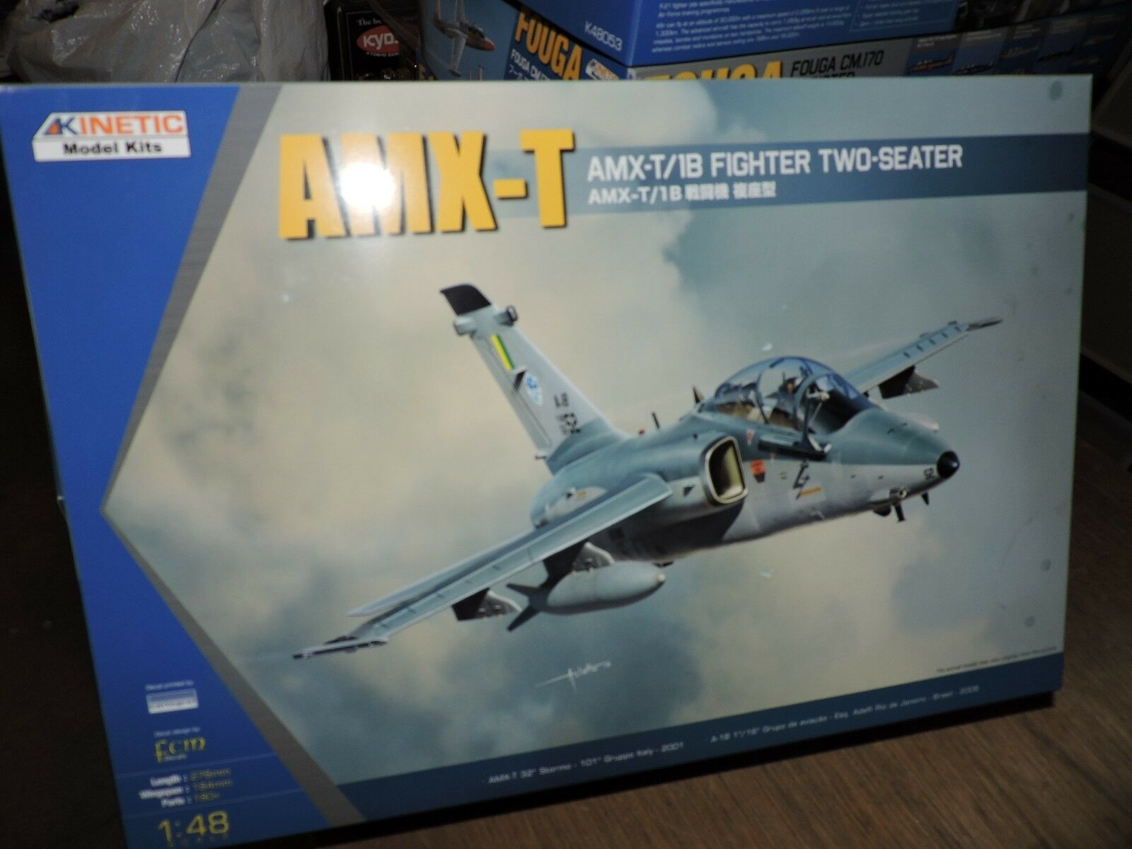 KINETIC 1 48th SCALE AMX-T  2 SEATER  MODEL KIT (BRAZIL 2006 )  ( K48027   )