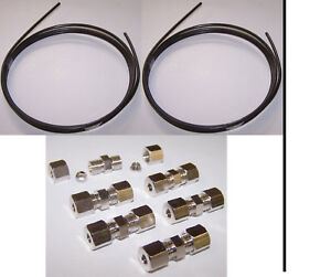 Bremsleitung-Reparatur-Reparatursatz-2-x-2-Meter-mit-6-Verbinder-ohne-zu-boerdeln