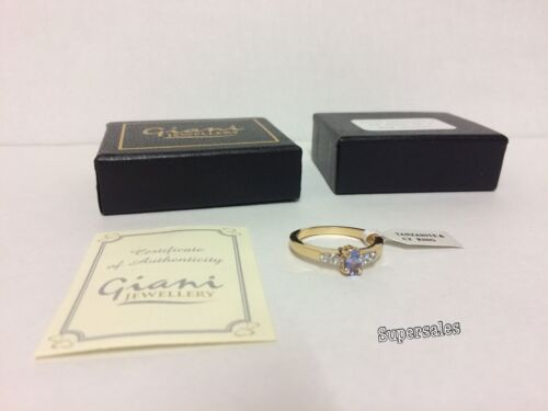 Tanzanite and CZ ring Giani Jewellery brand new /& boxed
