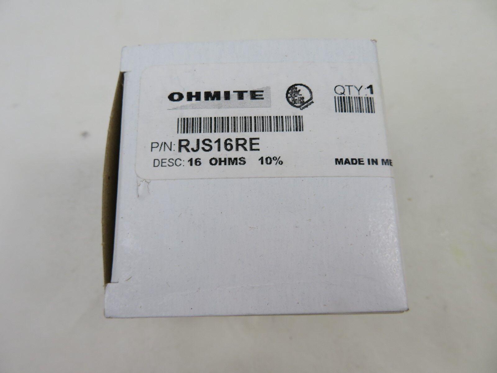 NEW OHMITE RJS16RE 16 OHMS 10% Rheostat 16 Ohm 50 Watt