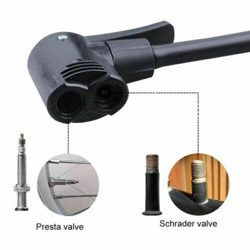Bicycle Tyre Tire Air Pump Presta Schrader Valve Inflator Hose Nozzle Adapter B