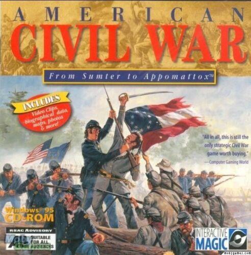 AMERICAN CIVIL WAR SUMTER TO APPOMATTOX 1Clk Windows 10 8 7 Vista XP Install