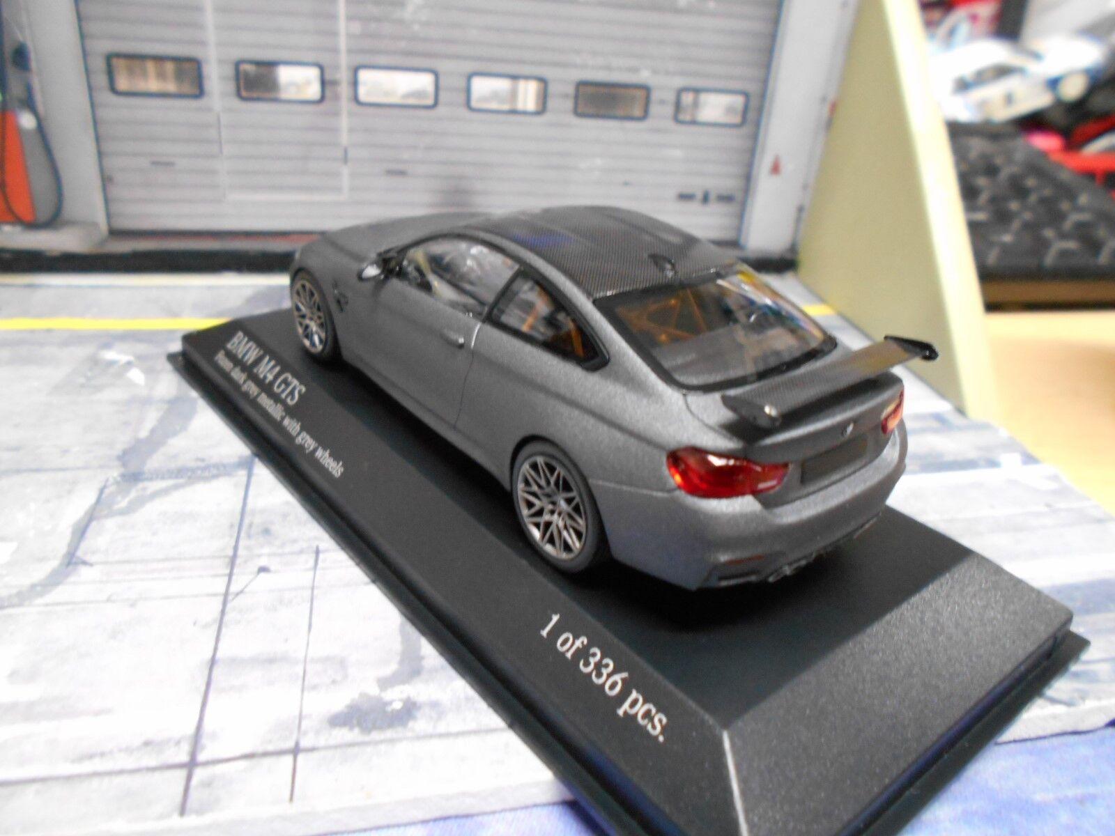 BMW m4 GTS COUPE 2016 2016 2016 Frozen GRIGIO grigio CON grigio WHEELS f82 Minichamps Nuovo 1 43 8d22aa