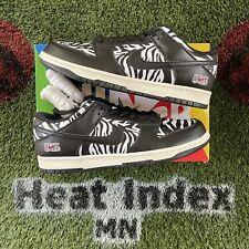 """Nike SB Dunk Low x Quartersnacks """"Zebra"""" - Size 11"""