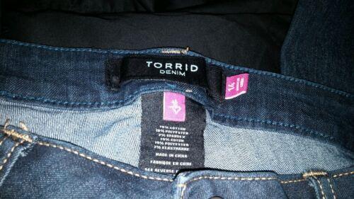 posteriori Wash Slim Jean tasche Boot Panty dark Denim impreziosite Nwot Sz14 W qHwzABUHW