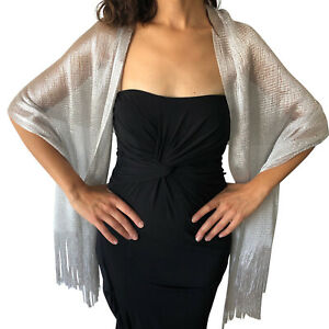 Central-Chic-Womens-Shimmer-Shawl-Sparkly-Scarf-Wrap-Weddings-Proms-Parties-Ball