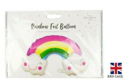Rainbow Foil Balloon Kids Birthday Party Celebration Balloon Decor Gift UK