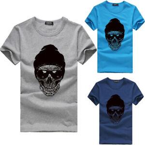 Men-Womens-Printing-Tees-Shirt-Short-Sleeve-Cotton-T-Shirt-Casual-Blouse-Tops-WE