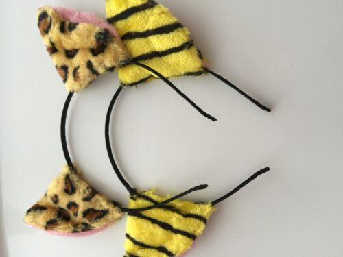 Women Girl kid Fluffy Fancy Kitty leopard Costume Ear Party Hair head band Prop