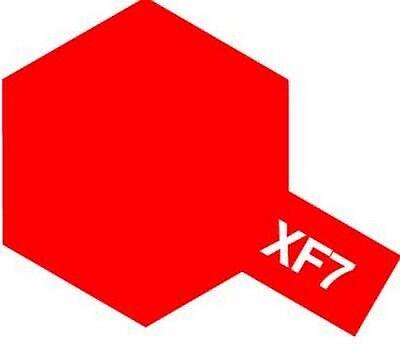 Tamiya 81707 XF-7 Flat Red 10ml Acrylic Paint Color XF7 Mini Bottle Model