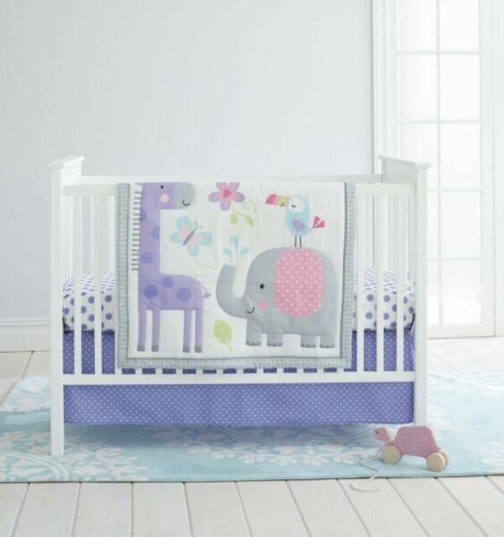 Cuddletime Newborn Baby Girl Crib Bedding Set Sweet Safari ...