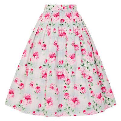 Analytisch Hell Bunny Natalie Pink Floral Check 1950s Retro Rockabilly Kitsch Chintz Skirt Delikatessen Von Allen Geliebt