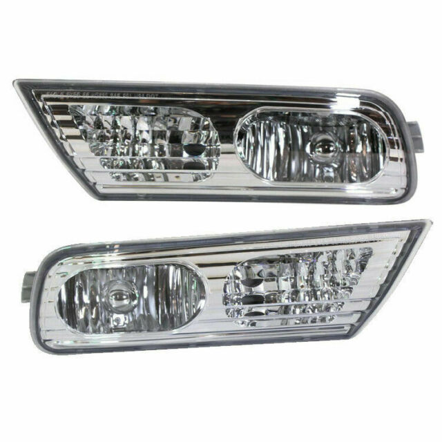 New Set Of 2 LH & RH Side Fog Lamp Lens And Housing Fits