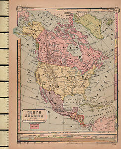 Map Of America Ebay.Details About C1860 Victorian Map North America Showing Land Heights Canada Mexico