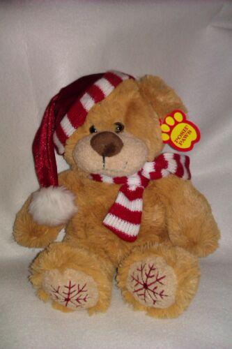 Noël Teddy avec foulard et chapeau