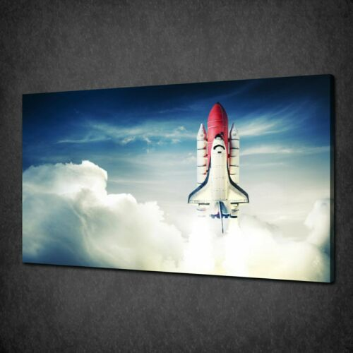 SPACE SHUTTLE TAKING OFF MODERN CANVAS WALL ART PRINT PICTURE READY TO HANG