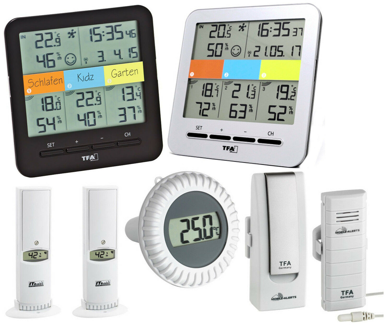Klimahome Piscina Tfa 30.3060.POOL Thermo-Hygrostation Weatherhub Transmisor de