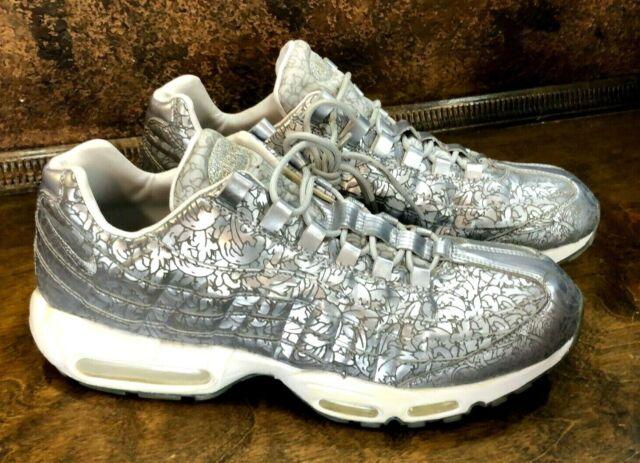Nike Air Max 95 Anniversary QS Pure Platinum Metallic Silver 818721 001 Mens 13