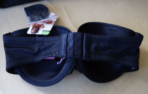 Panache Black Preformed Porcelain Strapless U//W Bra