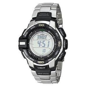 Casio-Men-039-s-PRG270D-7CR-Pro-Trek-Digital-Display-Japanese-Quartz-Silver-Watch