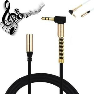 3-5MM-Jack-90-Degree-Right-Angle-Male-To-Female-AudioStereo-Cable-Aux-CordB-Z4K2
