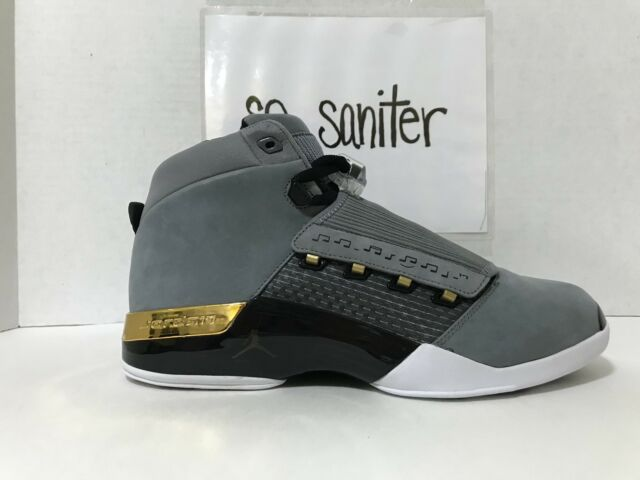 b70cf1a4224 Nike Air Jordan 17 Retro Trophy Room Cool Grey Gold Ah7963 023 Sz ...