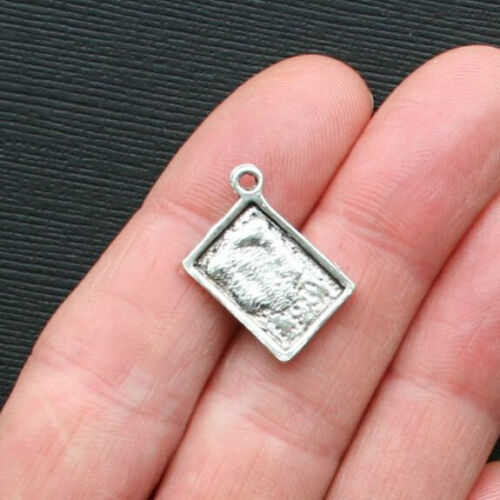 10 Cookbook Charms Charms Antique Silver Tone Great for Cooks and Chefs SC2421