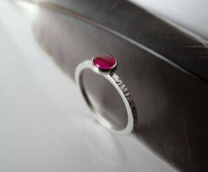 925-Sterling-Silver-Natural-Certified-0-75-Ct-Ruby-Gemstone-Engagement-Ring