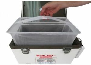 Minnow Strainer Engel Live Bait Well Cooler Mesh Net 13qt Portable