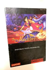 Aladdin SNES Super Nintendo Instruction Manual Booklet Book Only!