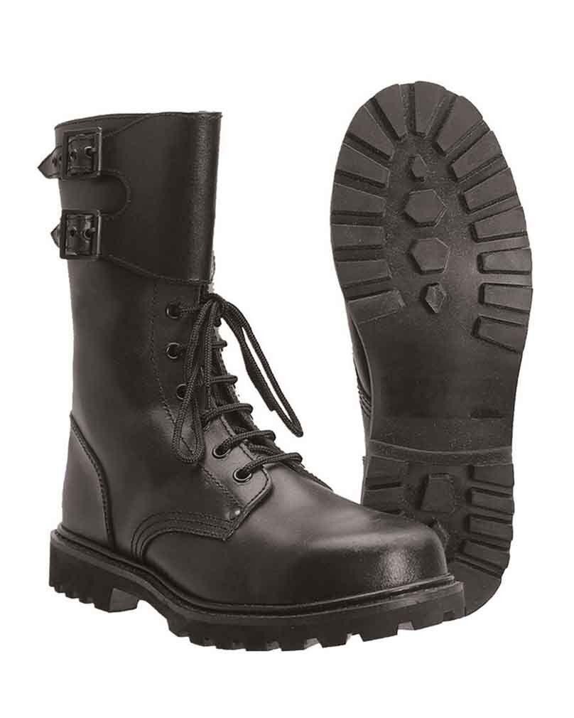 franz.kampfstiefel act.leather exterior, con de corte camping, exterior, act.leather MILITAR -nuevo 9d8e28