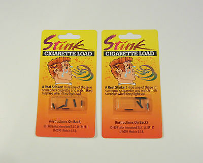 2 PACKS OF CIGARETTE STINK BOMB LOADS SMOKING GAG GIFT PRANK JOKE (6 PER PACK)