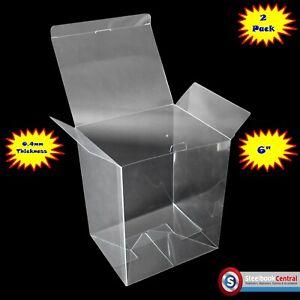 "FP2 Display Box Cases / Protectors For 6"" Funko Pop Vinyl (Pack of 2)"