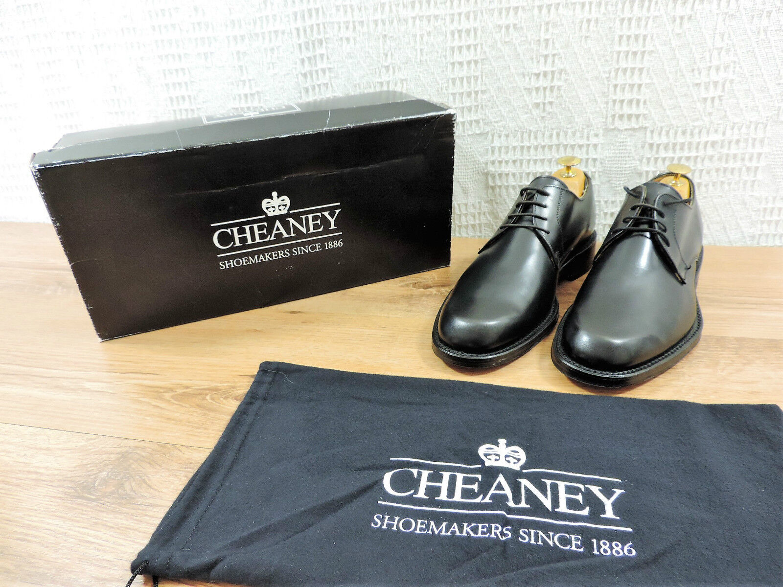 Neuf Church's Cheaney Jules Bench Fabriqué negro Derby F Us 7.5 Eu 40,5 F,