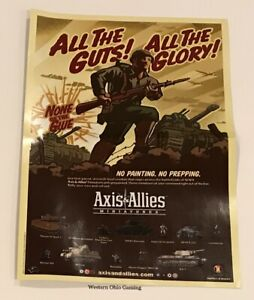 Axis-amp-Allies-Miniatures-2005-Promotional-Poster-with-Map-NEW-A-amp-A-Promo