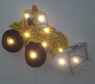 Bagger Radlader LED Lampe Schlummerlicht Nachtlicht Schlaflampe Wandlampe