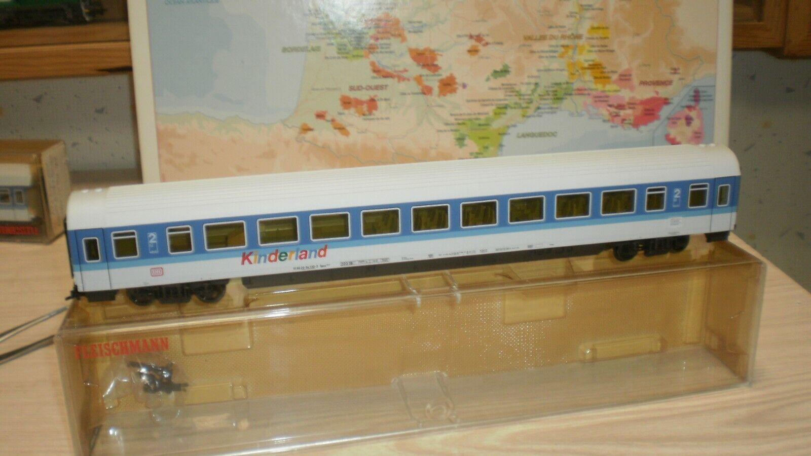 Voiture 2cl grdes lignes Fernexpress KINDERLAND DB Fleischmann HO