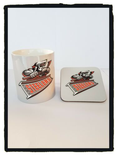 Great for Xmas Gifts /& Collectors Sheffield Steelers Mug /& Coaster
