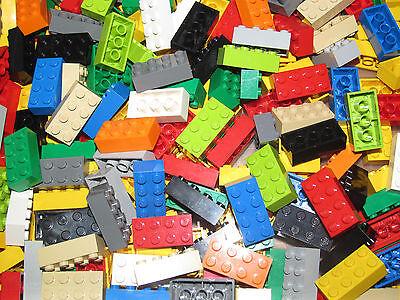 LEGO LOT 100 X PLATE 2X4 DARK GREEN REF 3020 *NEUF*