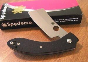 SPYDERCO-New-Black-G10-Handle-ROC-Plain-Edge-VG-10-Blade-Knife-Knives