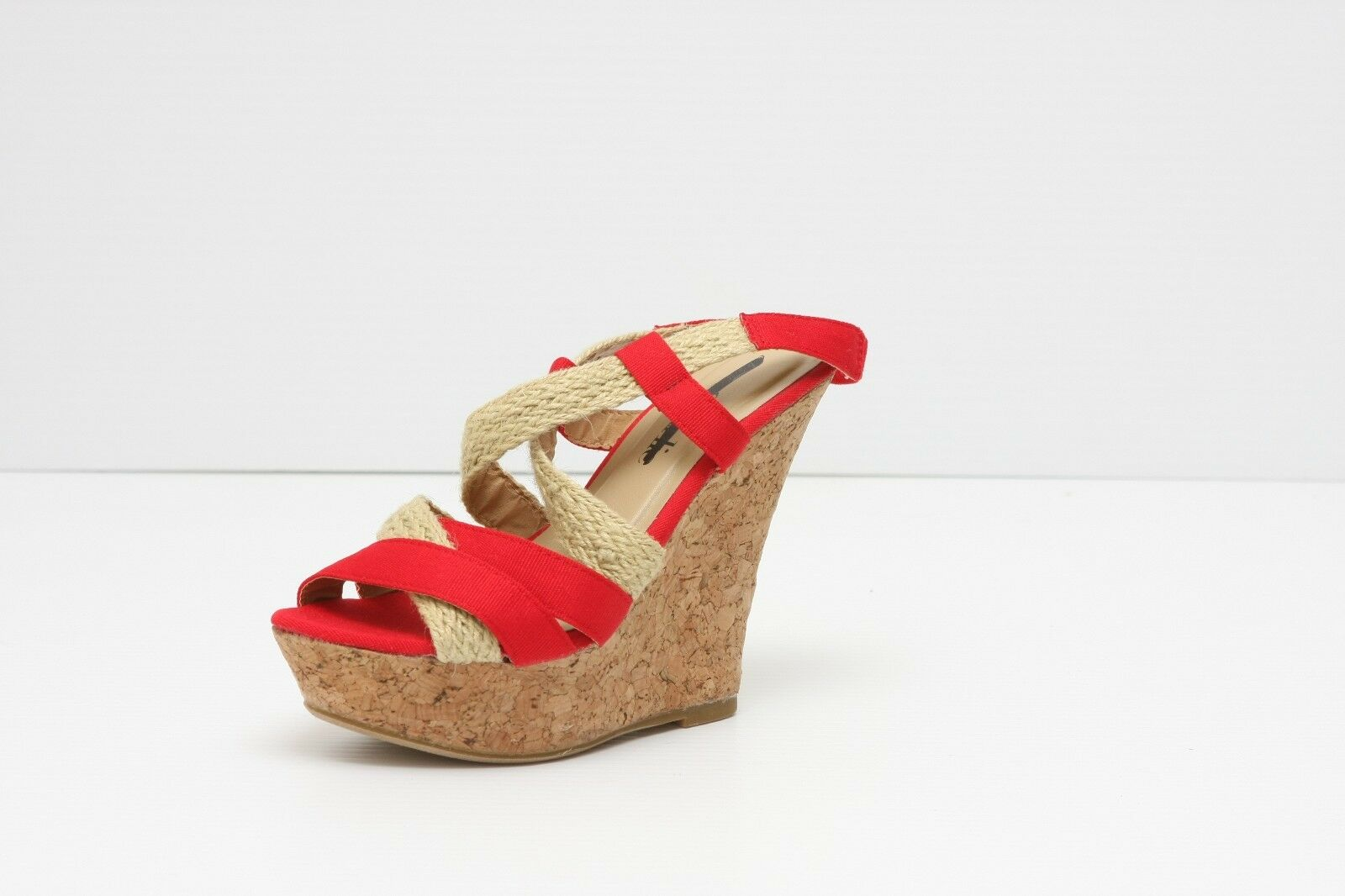 new charles par charles david sophie    s cork wedge sandales chaussures sz 7 1725b9