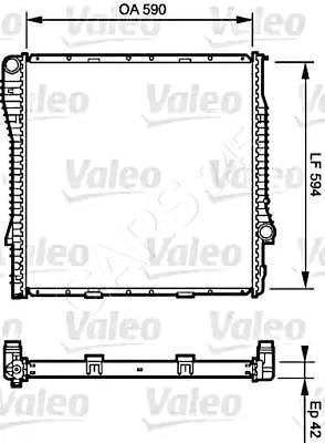 New BMW Valeo Radiator 734894 17101439101