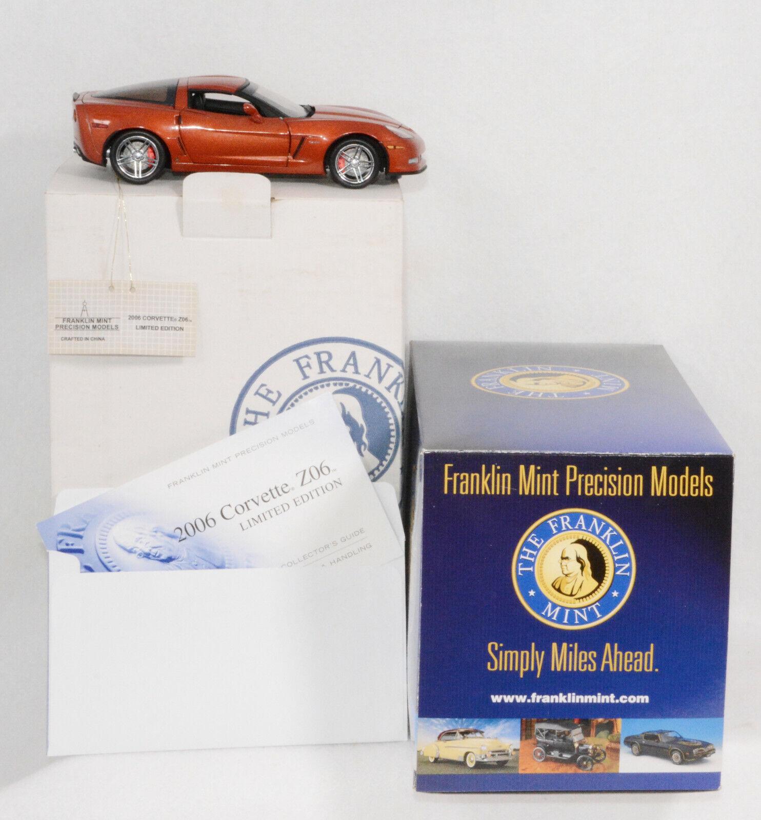 venta mundialmente famosa en línea Franklin mint Corvette Corvette Corvette 2006 Daytona puesta de sol naranja ZO6 Coupe  presentando toda la última moda de la calle