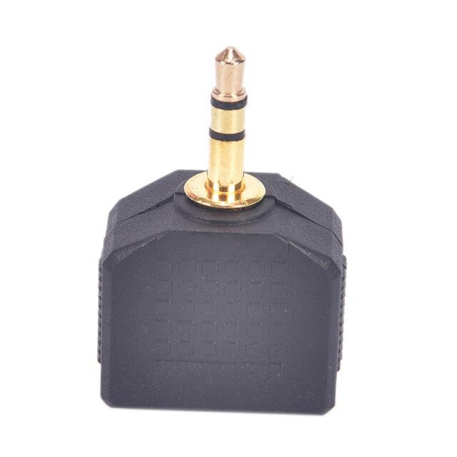 3.5mm Stereo Jack Headphone Splitter Adaptor 1 Plug to 2 Sockets PM NMCA