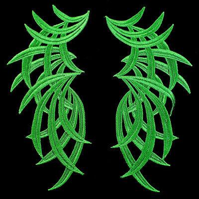 1 Pair Green Swirls Venice Lace Appliques