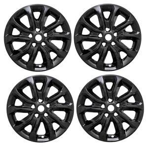 2018-2019-Chevy-EQUINOX-17-034-BLACK-Wheel-Skins-Hubcaps-Covers-Alloy-Wheels-SET