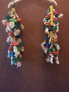 Gris africains- Amazon- autres charges perroquets de taille similaire des jambes de bois et ropetoy-afficher le titre d`origine OzUc3zLN-07204150-440546365