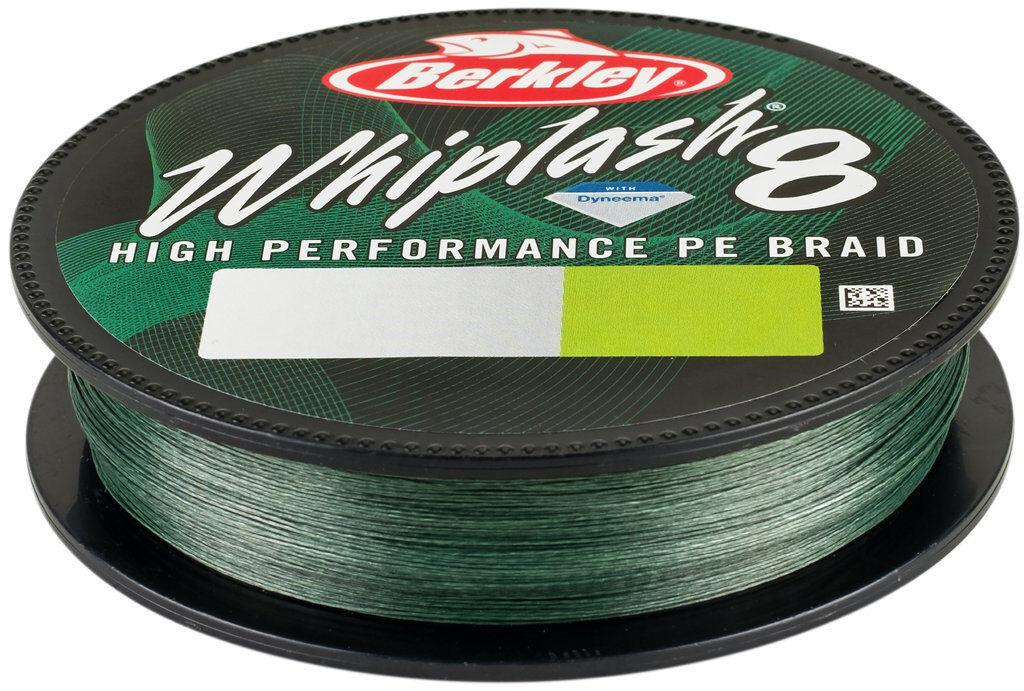 0,06mm Berkley Whiplash Green 1800m  geflochtene Angelschnur 10,6kg