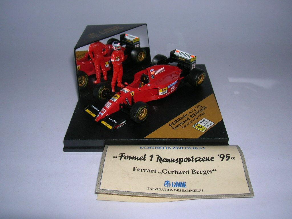 GÖDE GÖDE GÖDE Edition Formula 1 Ferrari 412 T2 M.Driver Figure Gerhard Berger, 1 43   345323