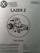 Exmark Lazer Z Zero Turn Commercial Riding Lawn Mower Parts Manual 52 60 160000